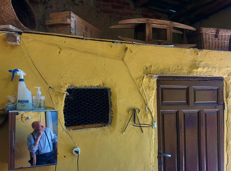 My grandfather, 98, waiting for lunch. Yellow Countryside Life Zamora, Spain Villagelife EyeEmNewHere