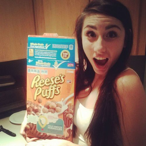 My inner child is coming out! Ilikecereal Yuuuumm :)