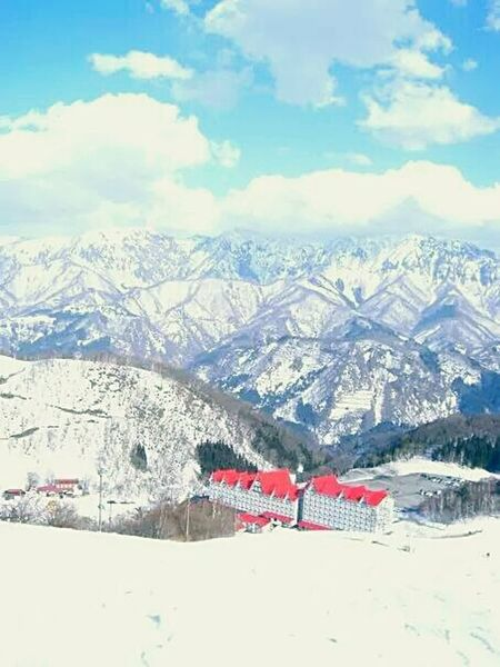 Skiing Hakuba Nagano, Japan Mountain View Clouds And Sky Mountain Range It's All Downhill From Here Unedited The Purist No People View From Above High Altitude A Bird's Eye View An Eye For Travel Go Higher