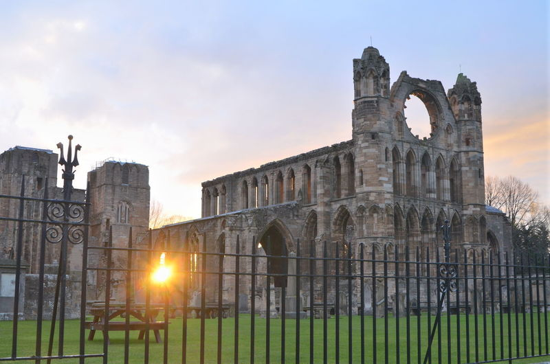 Ruins Architecture Places Of Worship Elgin Elgin Cathedral Landscape Cityscape Yellow Cloud - Sky Flower Flowering Plant Plant Sunset Building City Nature Built Structure Building Exterior Sky Architecture