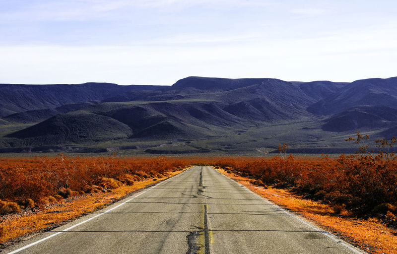 Road into colorful mountain