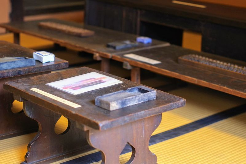 Classroom Desk Inkstone Mid-19th Century Pentax-m Smc 50mm F/1.4 Sakai City Japan Tatami Terakoya 3XSPUnity