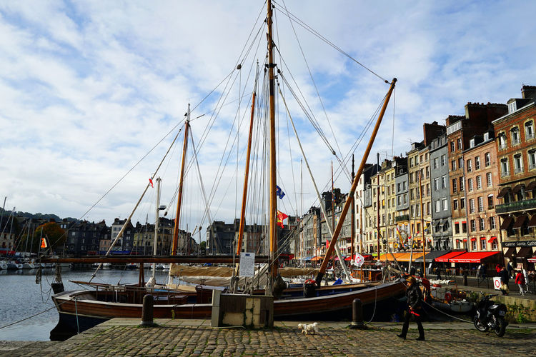 Honfleur October Travel Photography Boat City Cloud - Sky Day Harbor Nature Nautical Vessel Outdoors Sailing Sky Tall Ship Travel Destinations Water With Wife