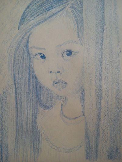 My Hobby Draving Blue Eyes Children's Portraits That's Me Blue ArtWork