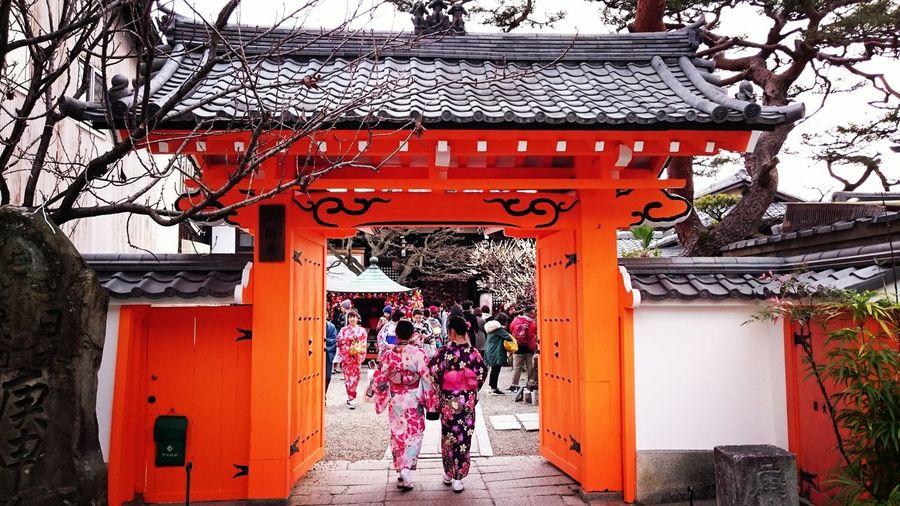 Pink Color EyeEmNewHere Japanese  Japan Architecture Kyoto Hanatoro Place Of Worship Day Entrance