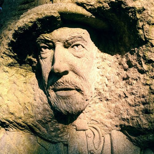 Carved in stone Yorkshire Pateley Bridge Art And Craft Creativity Sculpture Human Representation Close-up Sunlight Representation Male Likeness Statue Nature Portrait Outdoors No People The Portraitist - 2018 EyeEm Awards