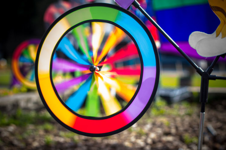 Childhood Close-up Colors Day Focus On Foreground Illuminated Multi Colored No People Outdoors Spining Wheel
