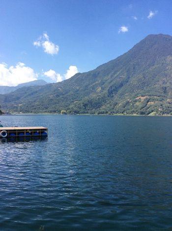 Atitlan Guatemala Atitlan Lake Mountain Mountain Range Scenics Nature Water Day Beauty In Nature Lake No People Outdoors Tranquility Waterfront Sky