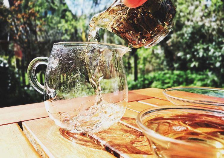 Ruby White Tea Teaholic Cha Qi Gongfucha Teaaddict Tealife Tealover  Teapot Puerh Greentea Whitetea Blacktea Oolong TeaPorn Gaiwan Tea Table Food And Drink Focus On Foreground Refreshment Day Nature Glass - Material