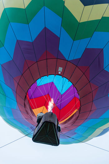 Colorful Day Directly Below Dutchess County Fire Hot Hot Air Balloons Hudson Valley Hot-Air Balloon Festival Low Angle View