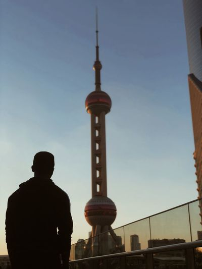 Its alright to be on your own, you came alone, you'll leave alone. City Politics And Government History Standing Rear View Monument Tower Sky Architecture Built Structure Tall - High Urban Skyline China World Trade Center Downtown District Cityscape