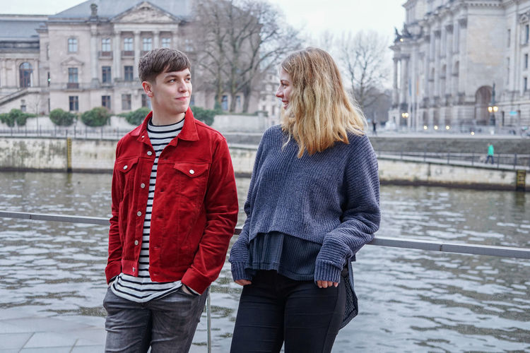 Berlin Friends Spree Young Authentic Candid Couple - Relationship Evening Friendship Germany Outdoors People Real People River Talking Togetherness Two People Water Young Adult