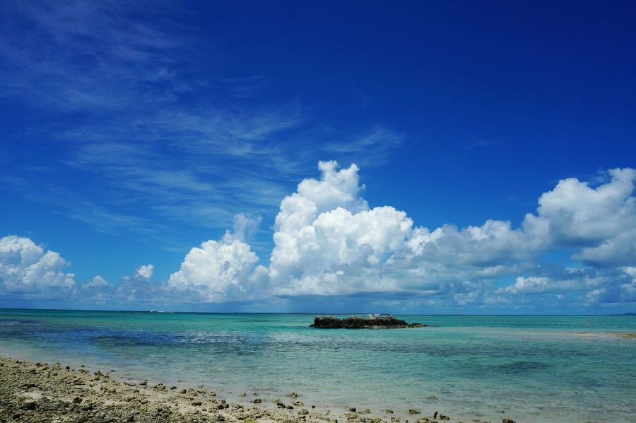 Takedomijima island Sea Beach Blue Cloud - Sky Sand Travel Travel Destinations Landscape Nature Sky Tropical Climate Outdoors No People Day Island Okinawa