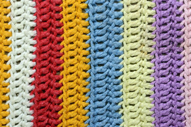 Full Frame Shot Of Multi Colored Woollen