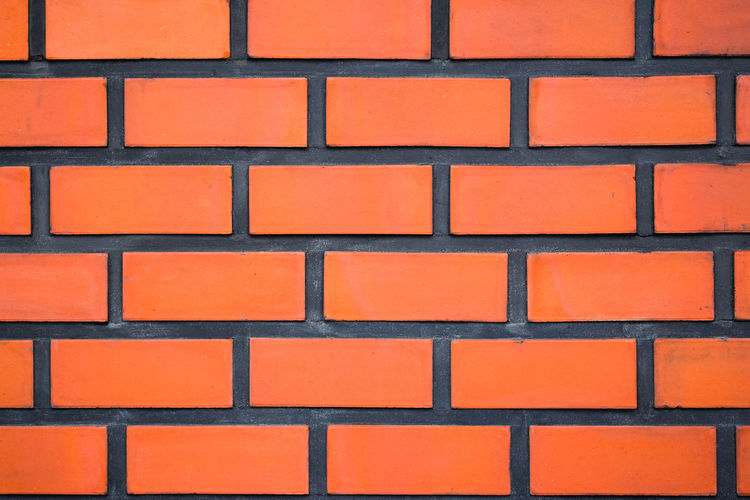 Brick background for your text Architecture Arrangement Backgrounds Brick Brick Wall Built Structure Close-up Design Full Frame In A Row Indoors  No People Orange Color Pattern Red Repetition Shape Side By Side Wall Wall - Building Feature