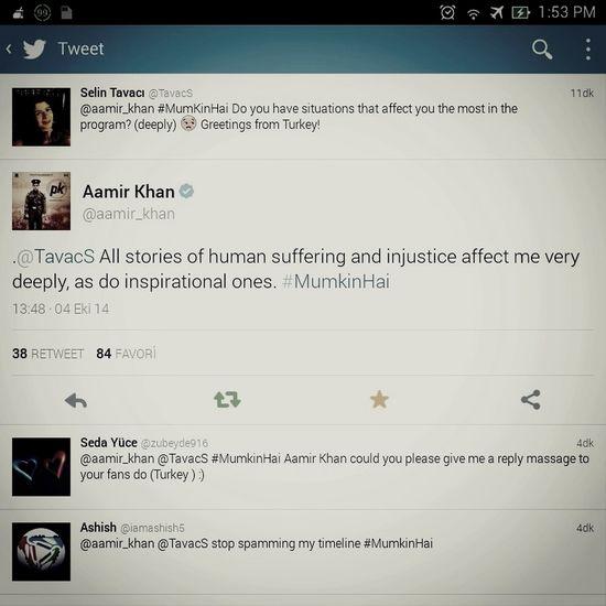 Aamirkhan Twitter Hi!