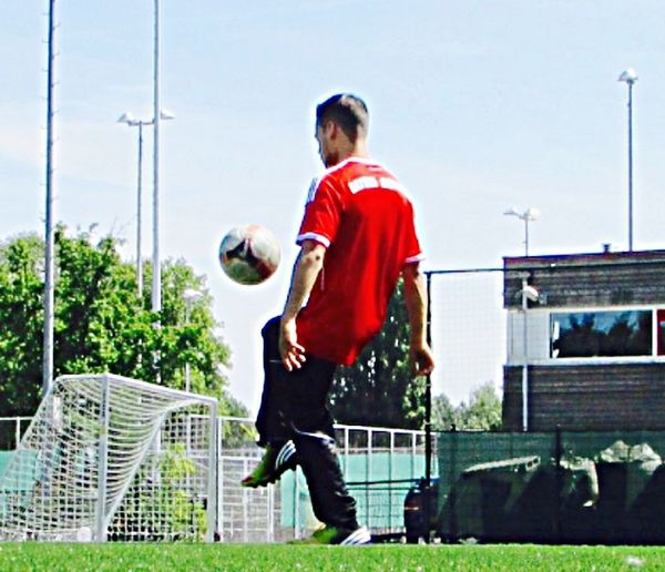 Voetba Green red, gras, trick, sport, motion Nike soccer health