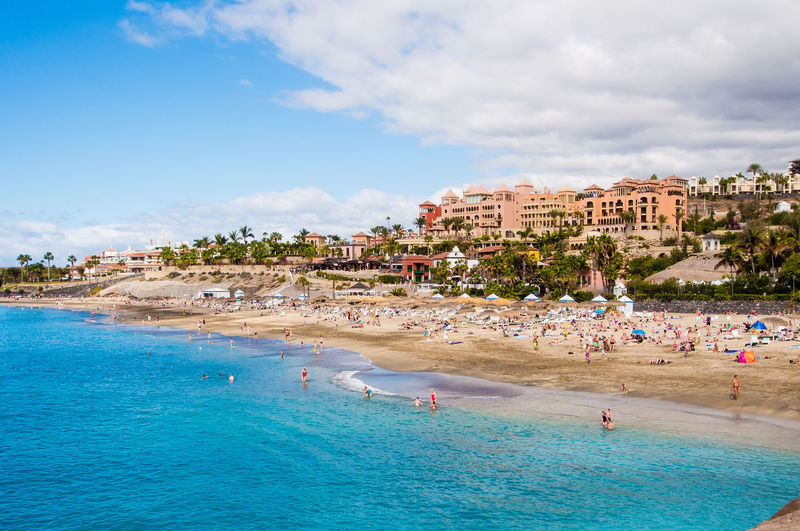 Scenic beach in tenerife