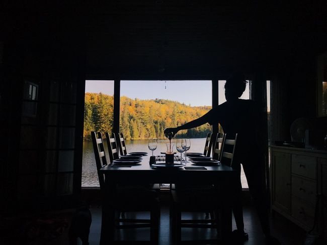Table Indoors  Window Chair Food And Drink Home Interior Day Architecture No People Water Nature Sky Silhouette Wine