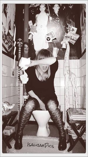 Nikki Van Rie Fashionmodel  70ties Toilette Art