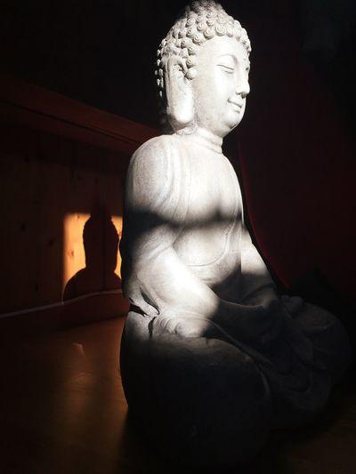 Statue Spirituality Sun Shadow