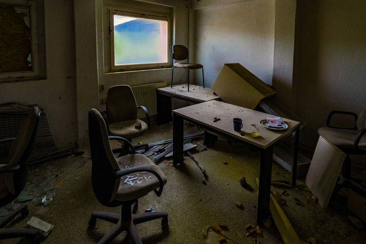 Interior of abandoned office