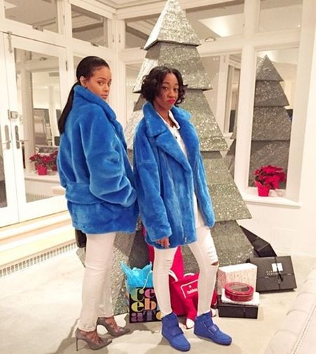 Melissa Forde & Rihanna Best Friends Matching Christmas 2014 Model Gorgeous Aesthetics Street Fashion Fashion