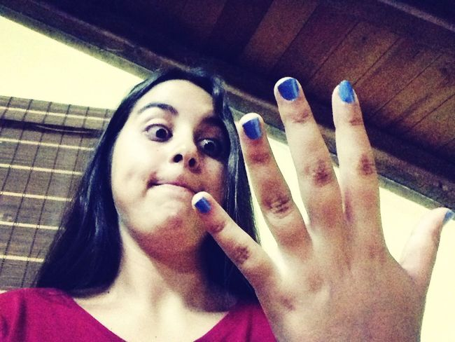Thatface Painting Nails *blue* Ineedtosleep ?????