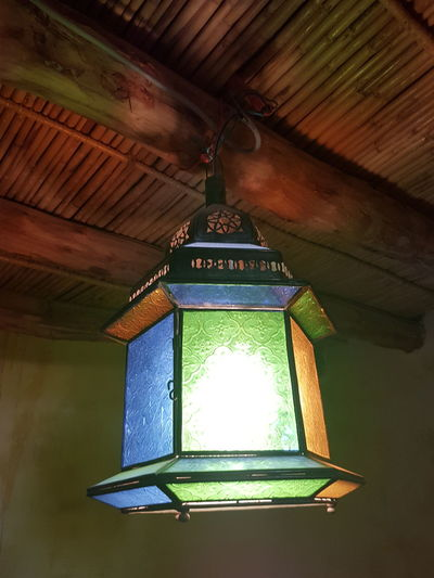 No People Lantern Lightshade Indoors  Illuminated Accommodation Maroccan Style Interior Style Moroccan Style Ceiling