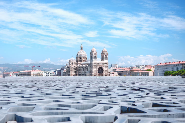 Cathedral Marseille Relaxing Architecture Building Exterior Built Structure Cloud - Sky Day Marseillerebelle Mucem Outdoors Religion Sky Travel Destinations