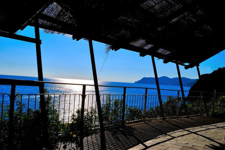 5 Terre Cinque Terre Italia Italy No People Ombre Sea Sea And Sky Seascape Sky Summer Sun Water