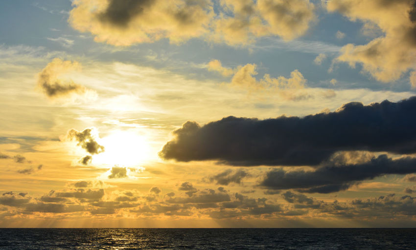 Sunset in the Biscay At School Rays Of Light Beauty In Nature Cloud - Sky Horizon Horizon Over Water Idyllic Nature No People Non-urban Scene Outdoors Scenics - Nature Sea Sky Sun Sunlight Sunrise Sunset Tranquil Scene Tranquility Water The Great Outdoors - 2018 EyeEm Awards Capture Tomorrow 2018 In One Photograph 2018 In One Photograph