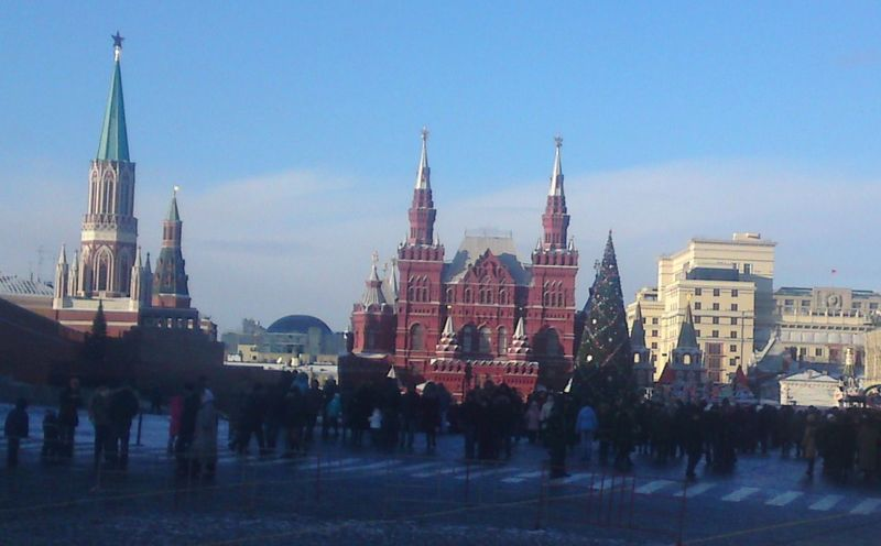 Architecture Christ Culture Day Moscow Outdoors Red Square Russia Sky Snow Tourism Tourist Winter Xmas