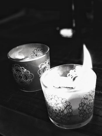 Just candles EyeEm Exploring Candles Burning Candles Light Table Indoors  Close-up Focus On Foreground Freshness