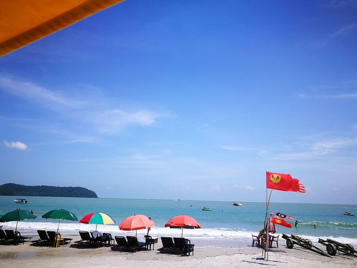 Langkawi Cenang Water Sea Beach Sand Summer Sky Horizon Over Water