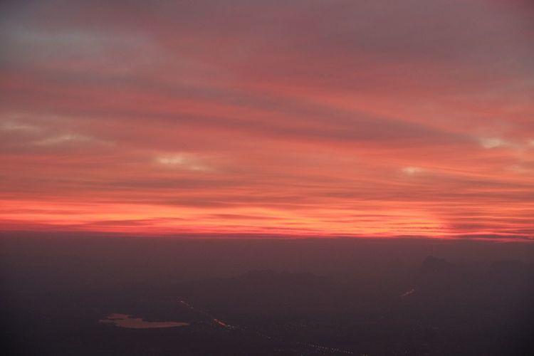 beautiful sky / sunrise Sunset Beauty In Nature Nature Scenics Sky Orange Color Tranquility Landscape No People