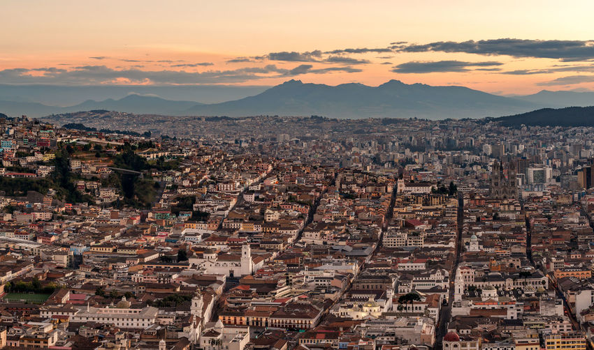 Quito cityscape daytime Aerial View Architecture City City Cityscape Dusk In The City Ecuador Full Frame Houses Morning Sky Mountain Old City Outdoors Quit Travel Destinations Urban Urban Landscape Urban Skyline