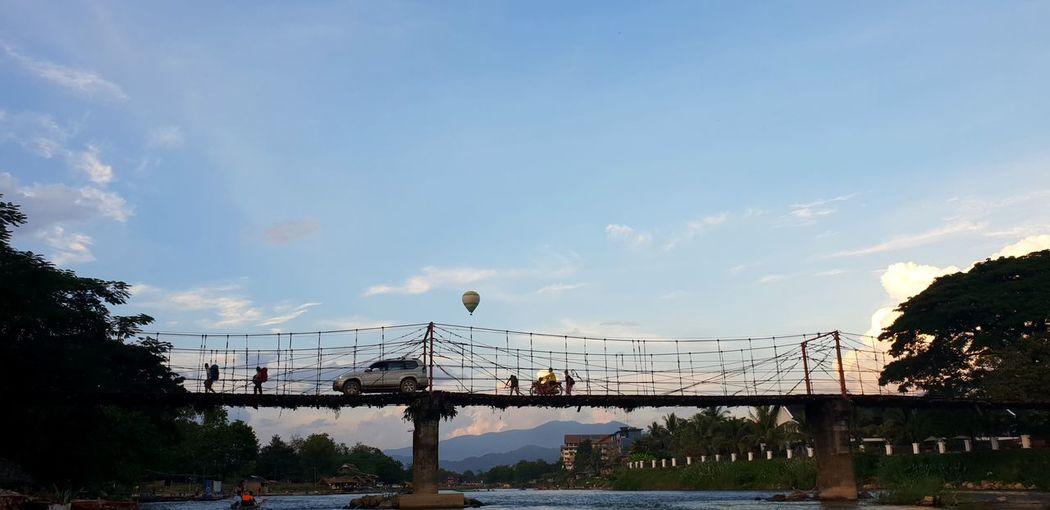 vang vieng Bird City Tree Water Flying Amusement Park Ride Amusement Park Carousel Sky Cloud - Sky Ferris Wheel