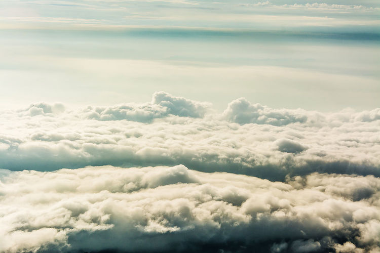 Cloud - Sky Scenics - Nature Beauty In Nature Sky Tranquility Cloudscape Tranquil Scene No People Idyllic Nature Day Outdoors Backgrounds Heaven Fluffy Softness Majestic White Color Dramatic Sky Meteorology Above Ominous Wispy