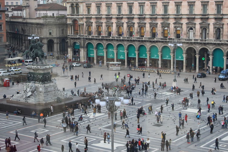 Have you ever wondered if you're a background actor or protagonist? Sometimes I do, Milan Large Group Of People Tourism Travel Destinations City Real People Vacations Built Structure Milano Italy Magazine Cover