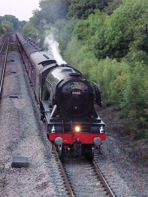 Steam Train Train - Vehicle Transportation Mode Of Transport Locomotive Rail Transportation Railroad Track Smoke - Physical Structure Old-fashioned Steam Travel Outdoors Public Transportation No People Engine Flyingscotsman