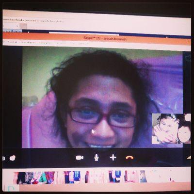 Skype with my sister, ka enji Instasister Skype Videocall
