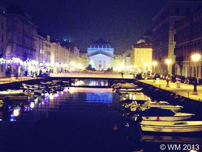 Ponterosso by night Trieste Bridge