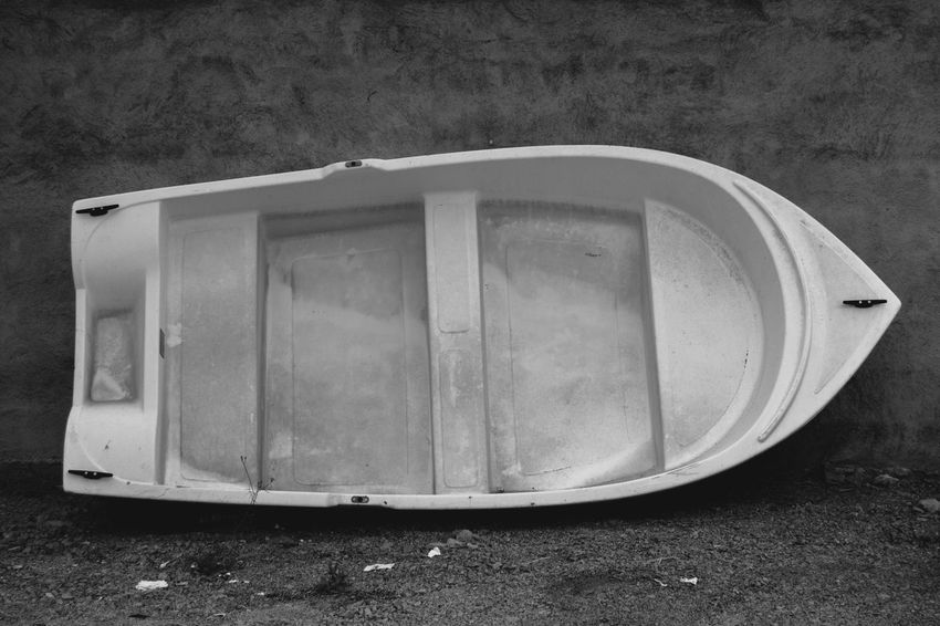 Black & White Old Boat Rowing Boat Abandoned Black And White Boat Leaning Against A Wall Close-up Day Dinghy Monochrome Nature Nautical Vessel No People Obsolete Old Outdoors Retro Styled Single Object Still Life Transportation Wall