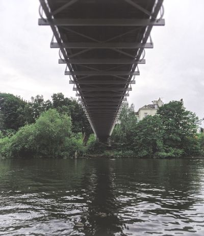 Connection Built Structure Architecture Water Low Angle View Bridge - Man Made Structure Engineering Waterfront Tree River Transportation Sky Reflection Scenics Cloud Nature Outdoors Growth Tranquil Scene Day Chester Riverside River River Dee