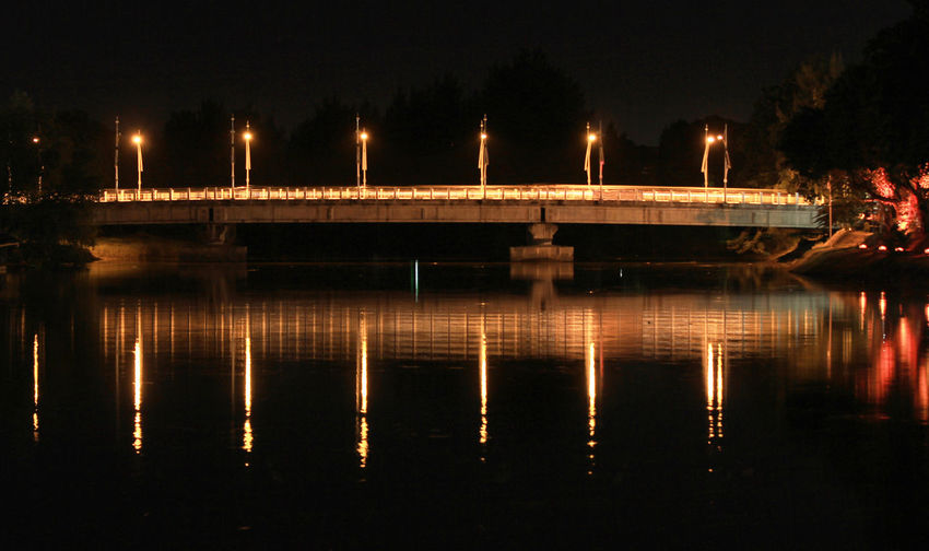 Aceh River Bridge at night Night Reflection Illuminated Water Architecture No People Built Structure Lighting Equipment Nature Lake Waterfront Outdoors Street Street Light Transportation Building Exterior Connection Bridge