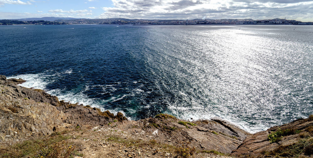 Views of the Atlantic ocean in La Coruña, north of Spain from the cliffs of the lighthouse of Mera Cliffs Galicia, Spain Natural Rock SPAIN Coast Landscape_photography Ligthhouse Ocean Panoramic Photography Seascape