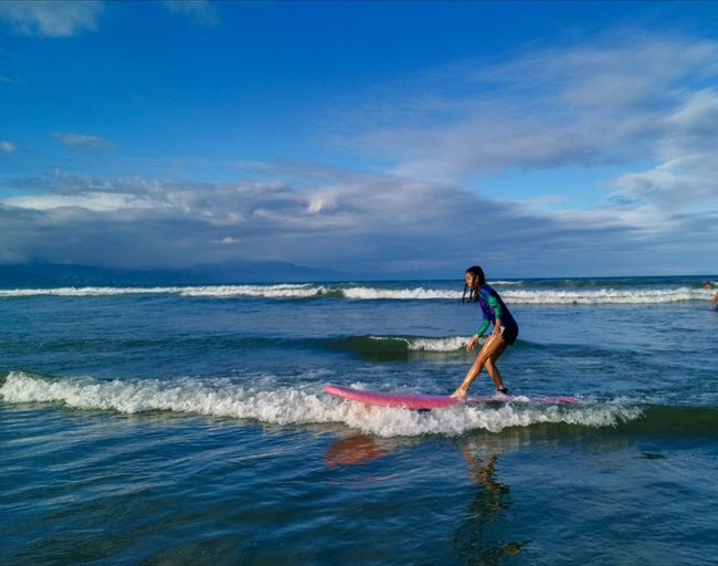 Baler Surfing Surfer Sportsman Athlete Paddleboarding Wave Sports Clothing Full Length Sea Water Sport Extreme Sports Surf Surfing