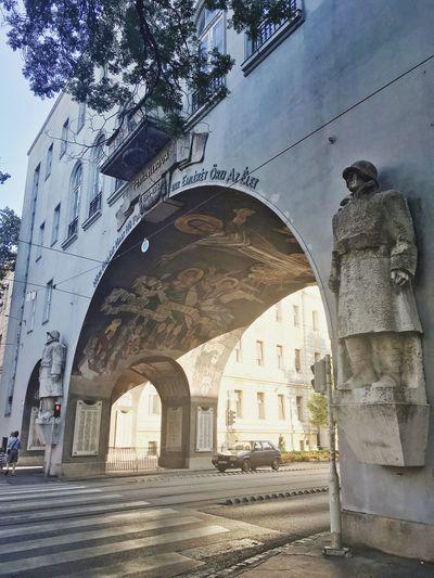 Szeged Hungary Arch Statue