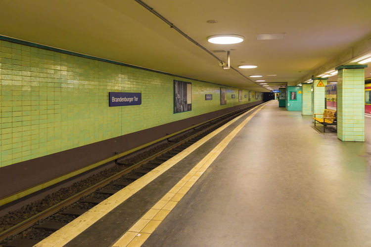 Berlin Underground Station  Indoors  No People Perspektiven The Way Forward Transportation